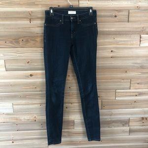 Leather Ryan Powell dark wash skinny jeans size 27